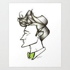 Bow Tie Guy Art Print