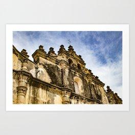 View of the Top of the Catholic Church Iglesia La Merced, Granada, Nicaragua Art Print
