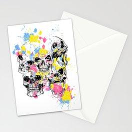 Skeleton Bone - Colored Vintage Skulls Stationery Cards