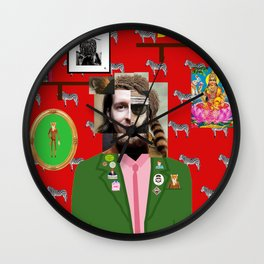 Wes Anderson illustration Wall Clock