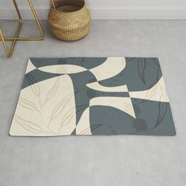Abstract - Vase Shapes in Evening Dove Rug