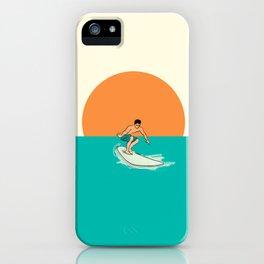 Surfer Minimal Draw Line iPhone Case