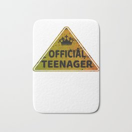Warning Official Teenager 13th Birthday Gift Funny T-shirt Bath Mat