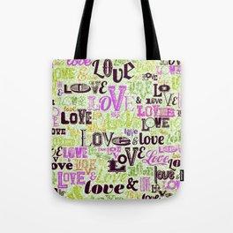 Vintage Love Words Tote Bag