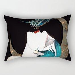Butterfly Kiss Art Deco Remix Rectangular Pillow