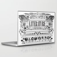 literature Laptop & iPad Skins featuring Literature Poster by Ryan Huddle House of H