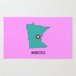 Minnesota State Heart Rug
