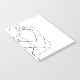 Lovers - Minimal Line Drawing Notebook