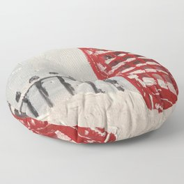 London Blizzard Floor Pillow