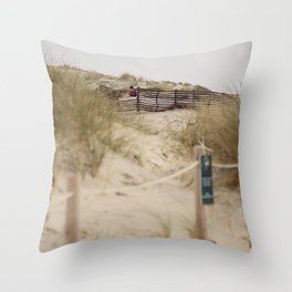 Walking In The Dunes Throw Pillow
