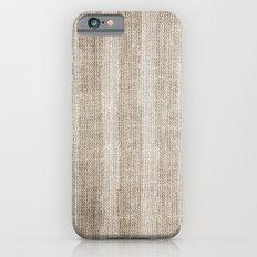 Striped burlap (Hessian series 3 of 3) Slim Case iPhone 6