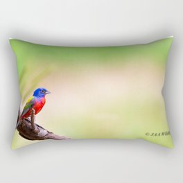 Lonely Painted Bunting 2020 Rectangular Pillow
