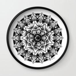 Black mandala Wall Clock