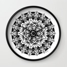 Black mandala Wall Clock