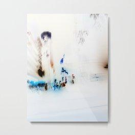New York In Negative Metal Print