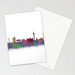 Berlin City Skyline HQ4 Stationery Cards