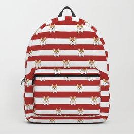 Corgi Stripes Corgi Dog design Cute Corgi Pet Gifts Backpack