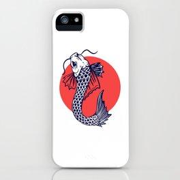 Japan Koi Carp Fish Design Gift iPhone Case