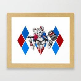 Harley Quinn Armed Framed Art Print