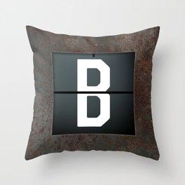 monogram schedule b Throw Pillow
