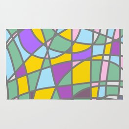 Stain Glass Abstract Meditation Easter Painting Rug