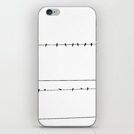 The Birds on the Line (Black and White) iPhone Skin