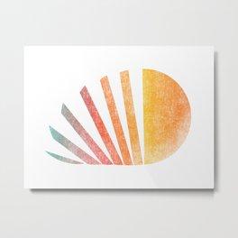 Raising sun (rainbow-ed) Metal Print