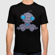 Sad Robot Black MEDIUM Mens Fitted Tee