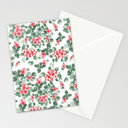 watercolor floral soft red peach color pattern design Stationery Cards