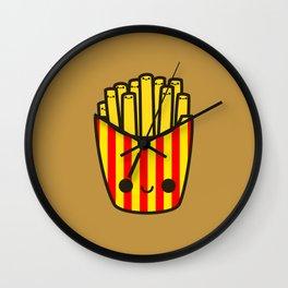 Yummy kawaii fries Wall Clock