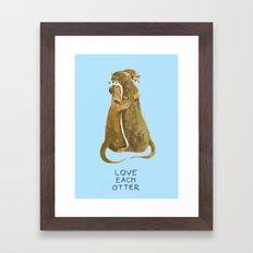 Love each otter Framed Art Print