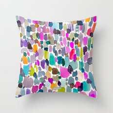 Color Party Throw Pillow