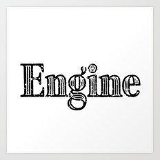 Engine Art Print