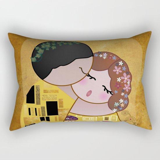 Kokeshi The Kiss Rectangular Pillow
