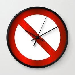 prohibition signal Wall Clock
