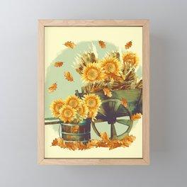 Vintage Thanksgiving Framed Mini Art Print