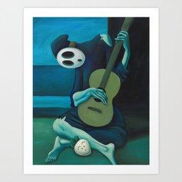 The Shy Guitarist Art Print