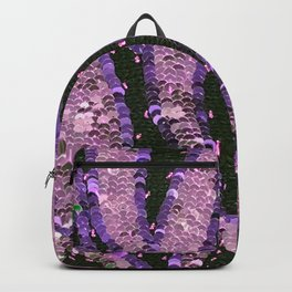 Orchid Pink Lavender Sequin Knit close Backpack