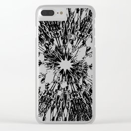 Crooked Calibration Clear iPhone Case