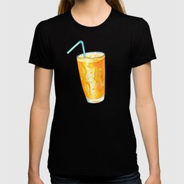 Orange Juice Pattern T-shirt
