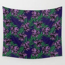 Orchid Skulls Wall Tapestry