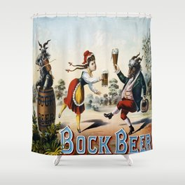 Vintage poster - Bock Beer Shower Curtain