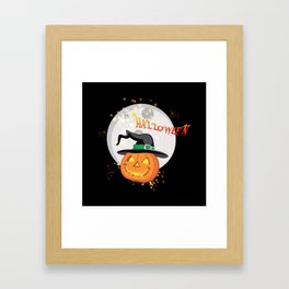 Halloween's pumpkin Framed Art Print
