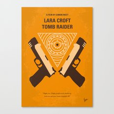 No209 Lara Croft Tomb Raider minimal movie poster Canvas Print
