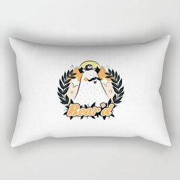Bear'd - Orange Rectangular Pillow