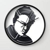 leonardo Wall Clocks featuring Leonardo DiCaprio by Alejandro de Antonio Fernández