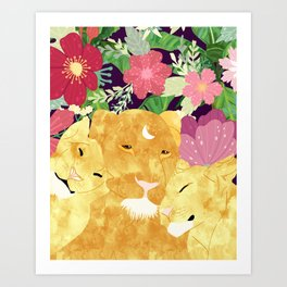 A Sincere Promise I Made To Myself, To Be Your Lioness When Things Are Messed #painting Art Print