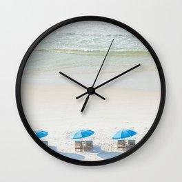 Mornings at the Beach Wall Clock