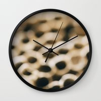 honeycomb Wall Clocks featuring Honeycomb by Laura Ruth