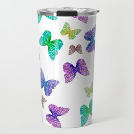 colorful butterfly Travel Mug
